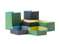 """6 boîtes à plier """" Les intendantes """" - Papier Tigre"""