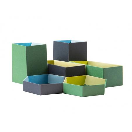 """6 boîtes à plier """" Les intendantes """" - Papier Tigre Papier Tigre - 1"""