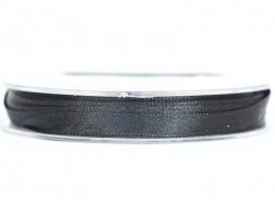 Satin ribbon (7 mm) - black