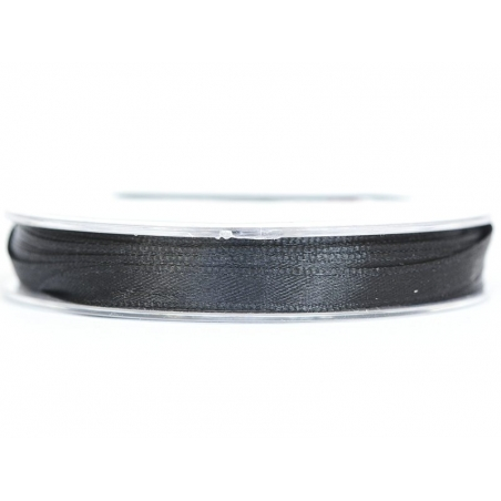 Satin ribbon (7 mm) - black
