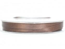 Einfarbiges Satinband (7 mm) - braun