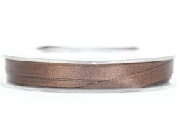 Satin ribbon (7 mm) - brown