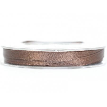 Bobine de ruban satin uni marron - 7 mm Rayher - 1
