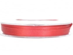 Satin ribbon (7 mm) - cherry red