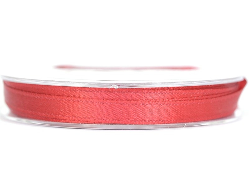 Bobine de ruban satin uni cerise - 7 mm