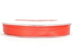 Satin ribbon (7 mm) - red