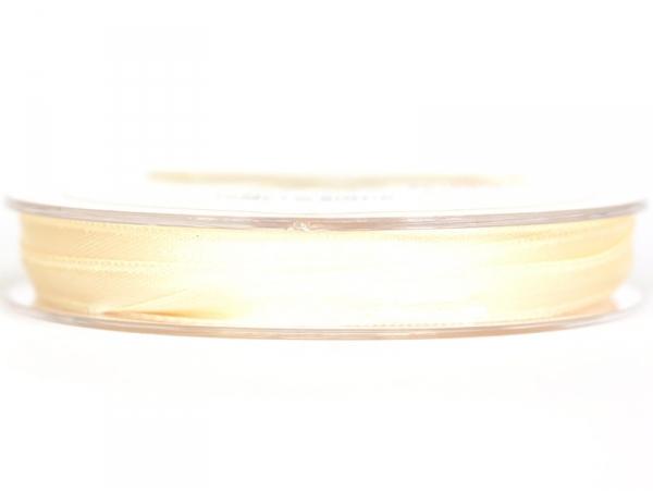 Bobine de ruban satin uni beige - 7 mm