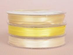 Einfarbiges Satinband (7 mm) - beige