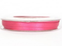 Satin ribbon (7 mm) - fuchsia