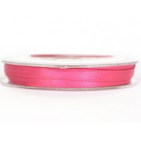 Satin ribbon (7 mm) - fuchsia