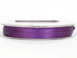 Bobine de ruban satin uni violet - 7 mm
