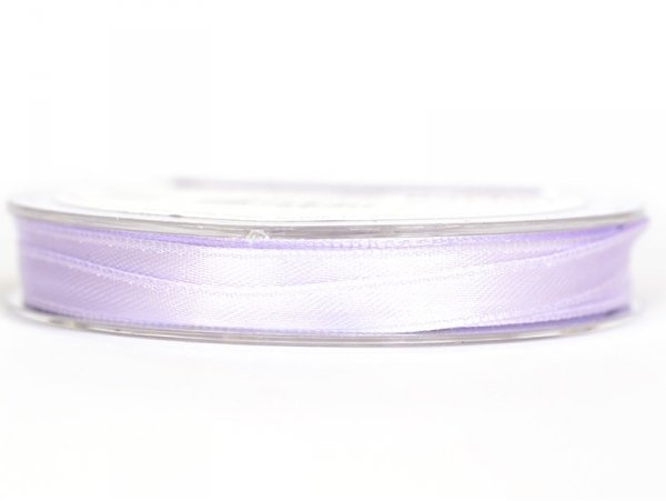 Bobine de ruban satin uni lilas - 7 mm