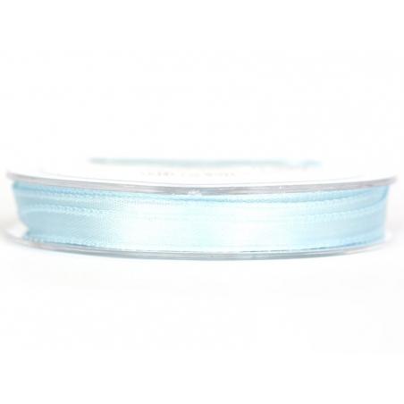 Bobine de ruban satin uni bleu ciel - 7 mm