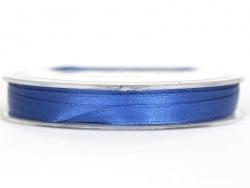 Ruban satin uni bleu roi - 7 mm