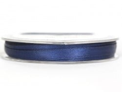 Satin ribbon (7 mm) - navy blue