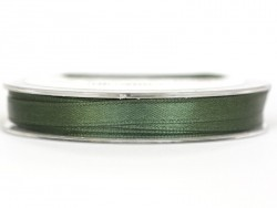 Satin ribbon (7 mm) - khaki green