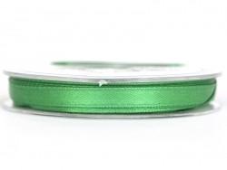 Bobine de ruban satin uni vert foncé - 7 mm