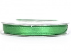 Satin ribbon (7 mm) - dark green