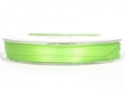 Bobine de ruban satin uni vert moyen - 7 mm