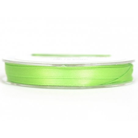 Satin ribbon (7 mm) - medium green