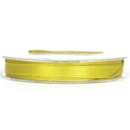 Satin ribbon (7 mm) - lime green