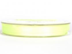 1 m ruban satin uni vert fluo - 6 mm