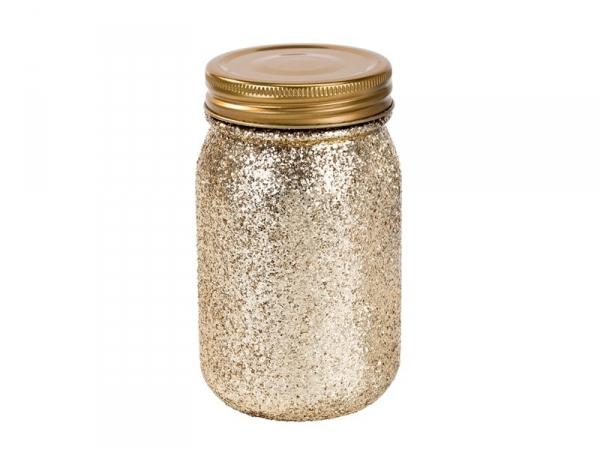 """Acheter Mini Bocal en verre """"Be Happy"""" - pailletée or - 6,55€ en ligne sur La Petite Epicerie - 100% Loisirs créatifs"""