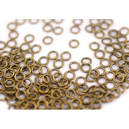 100 copper-coloured jump rings, 5 mm