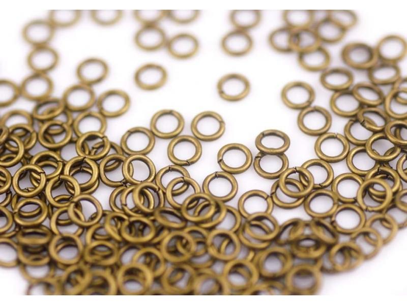 100 anneaux 5 mm cuivrés  - 1