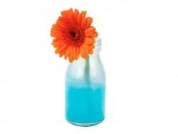 Mini Bouteille de lait en verre - rétro bleue Tie & Die