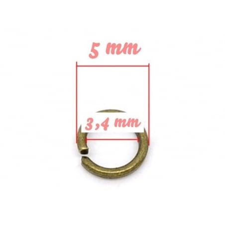 100 anneaux 5 mm couleur bronze  - 3
