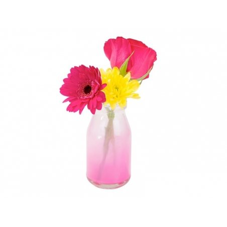 Mini Bouteille de lait en verre - rétro  rose Tie & Die