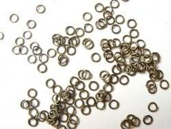 100 anneaux 5 mm couleur bronze  - 4