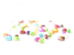 50 perles en bois vernis - Ovale 8 mm