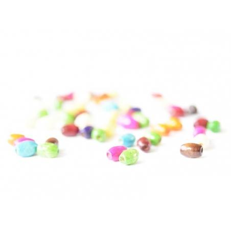 Acheter 50 perles en bois vernis - Ovale 8 mm - 0,79€ en ligne sur La Petite Epicerie - 100% Loisirs créatifs