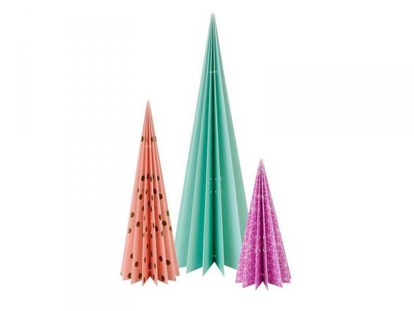 Acheter Décoration de table Sapins en papier à poser - lot de 3 - 14,90€ en ligne sur La Petite Epicerie - 100% Loisirs créa...