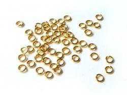 100 anneaux 3,5 mm dorés  - 1