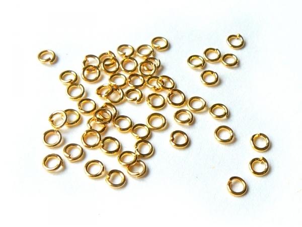 Acheter 100 anneaux 3,5 mm dorés - 3,60€ en ligne sur La Petite Epicerie - 100% Loisirs créatifs