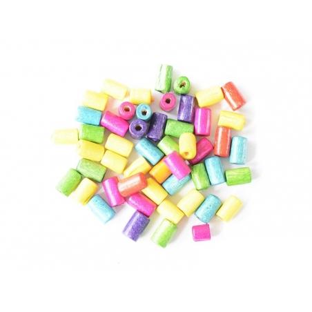 Acheter 50 perles en bois vernis - Tube 8 mm - 0,99€ en ligne sur La Petite Epicerie - 100% Loisirs créatifs