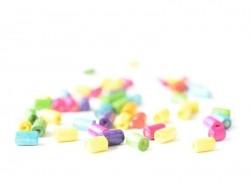 50 perles en bois vernis - Tube 8 mm
