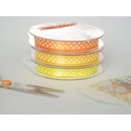 Acheter Bobine de ruban satin à pois - jaune - 3,40€ en ligne sur La Petite Epicerie - 100% Loisirs créatifs