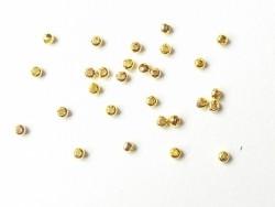 100 goldfarbene Metallperlen - 2,4 mm