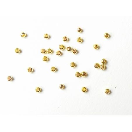 Acheter 100 perles en métal dorées - 2,4 mm - 2,09€ en ligne sur La Petite Epicerie - Loisirs créatifs