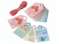 12 étiquettes cadeaux à motifs