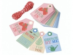 40 gift tags with different designs