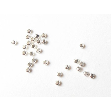 Acheter 100 perles en métal argentées - 0,99€ en ligne sur La Petite Epicerie - 100% Loisirs créatifs