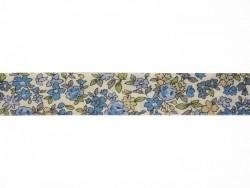 1m biais replié 9mm fleuri 15 - Mathilde