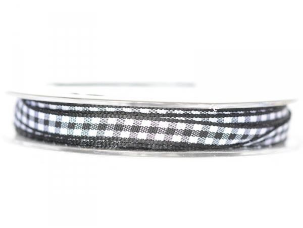 Bobine de ruban vichy - noir