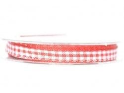 Bobine de ruban vichy - rouge Rayher - 1