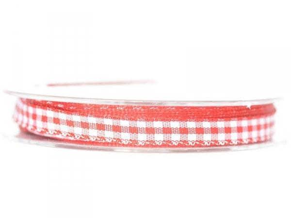 Gingham ribbon spool - red